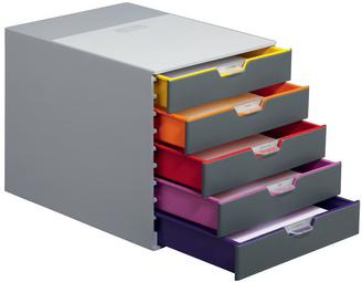 durable module de classement varicolor 5 avec 5 tiroirs 9760527 fournitures de bureau et. Black Bedroom Furniture Sets. Home Design Ideas